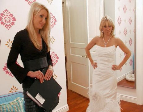 A sycophantic wedding dress designer showed up with some gowns for Ramona 39s