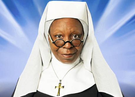 Picture of Whoopi Goldberg from her movie Sister Act