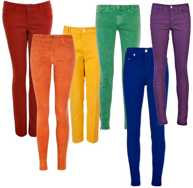 Skinny Jeans In Colors | Bbg Clothing