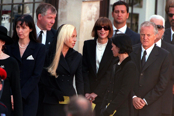 Donatella Versace At Her Brothers Funeral