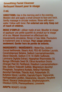 FACIAL CLEANSER INGREDIENTS