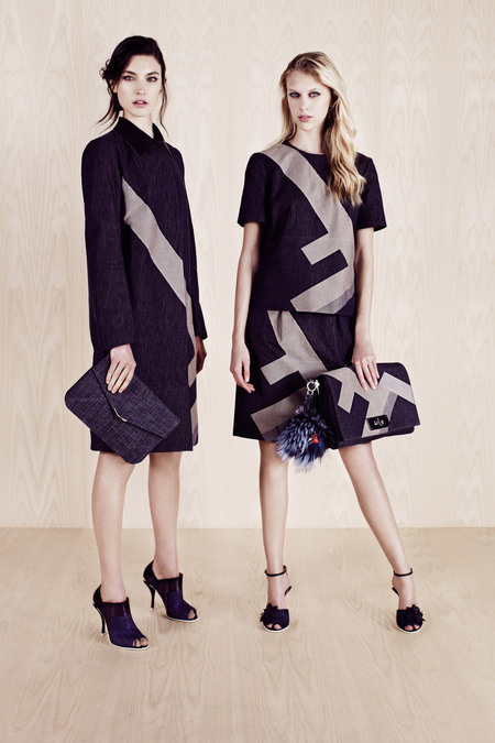 FENDI RESORT 2014 JACQUELYN JABLONSKI AND JULIANA SCHURIG 1