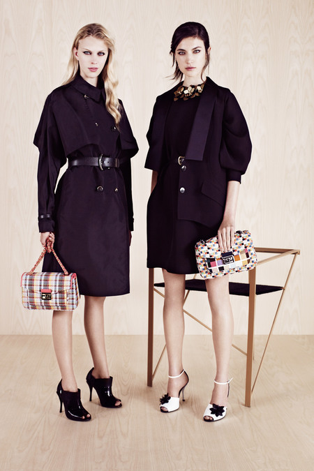 FENDI RESORT 2014 JACQUELYN JABLONSKI AND JULIANA SCHURIG 2