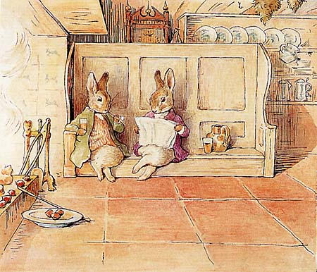 BUNNIES BY THE FIRE BEATRIX POTTER