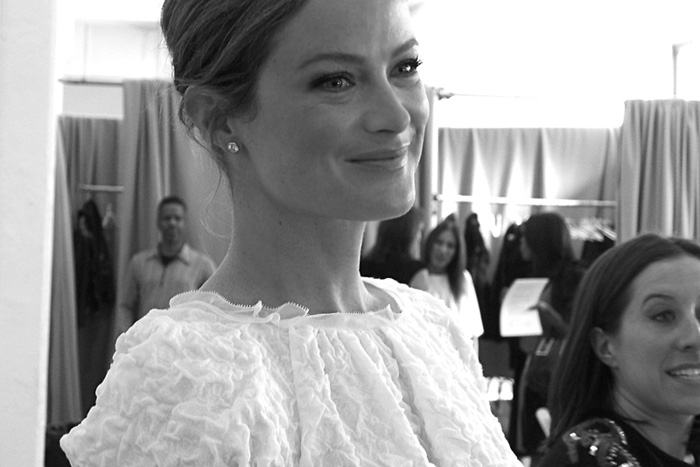 CAROLYN MURPHY BLACK AND WHITE CANDID