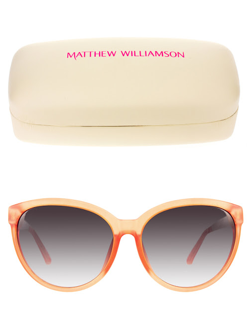 MATTHEW WILLIAMSON PEACH SUNNIES