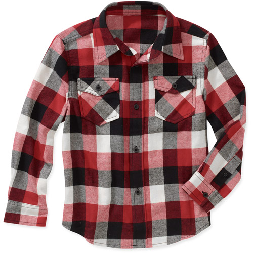 FADED GLORY RED AND BLACK FLANNEL