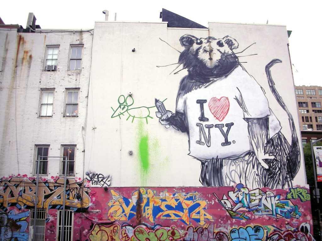 NYC BANKSY RAT