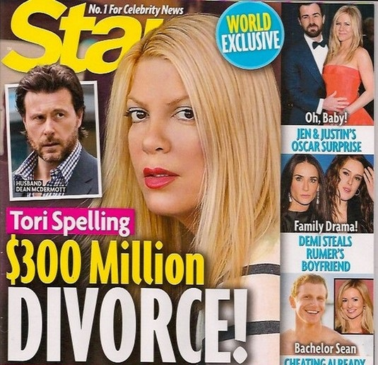 STAR TORI DIVORCE