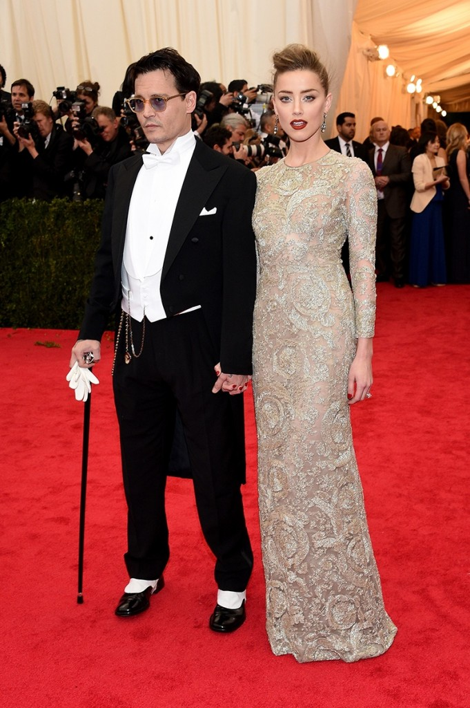 AMBER HEARD GIAMBATTISTA AND JOHNNY DEPP RALPH LAUREN MET BALL