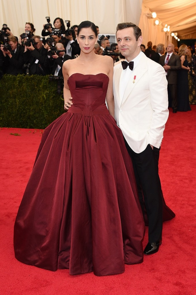 SARAH SILVERMAN MICHAEL SHEEN MET BALL 2014