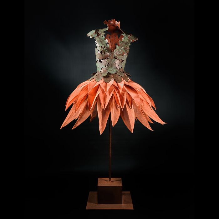 ARABELLA TATTERSHALL METAL FEATHER DRESS