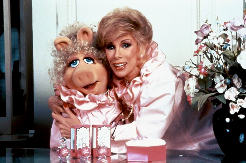 JOAN RIVERS AND PIGGY