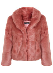MISS SELFRIDGE FAUX FUR ROSE