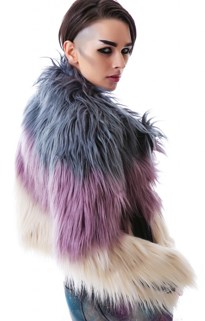 TRI COLOR FAUX FUR